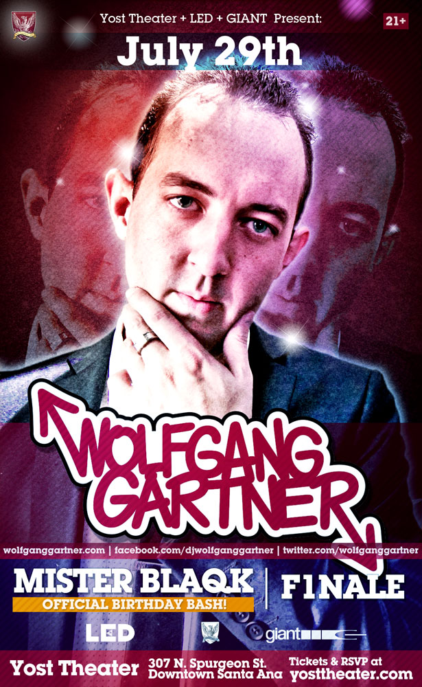 WOLFGANG GARTNER,THE YOST THEATER