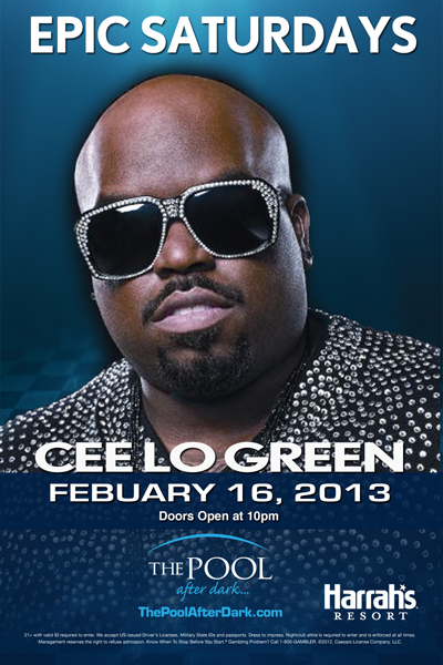 CEE-LO,THE POOL AFTER DARK-HARRAH'S RESORT