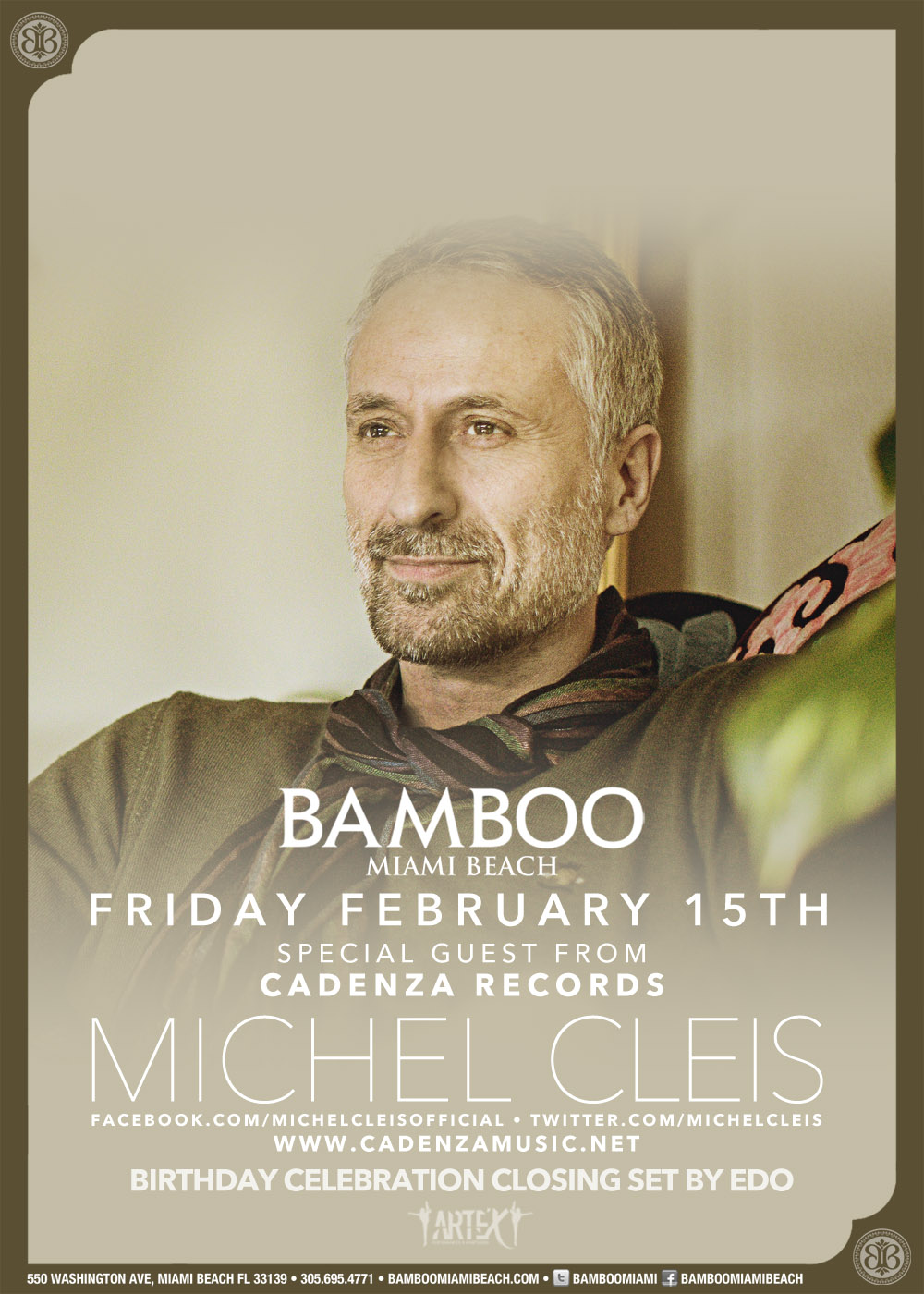 MICHEL CLEIS,BAMBOO MIAMI BEACH