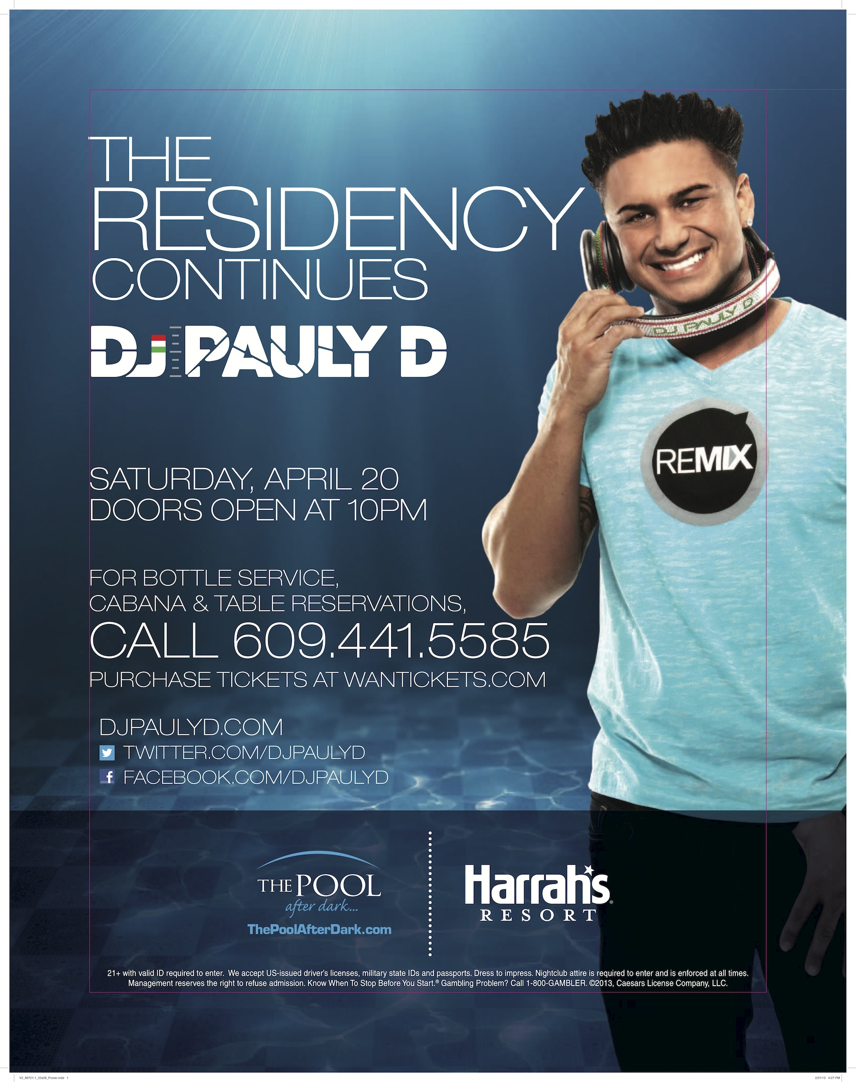 DJ PAULY D,THE POOL AFTER DARK-HARRAH'S RESORT