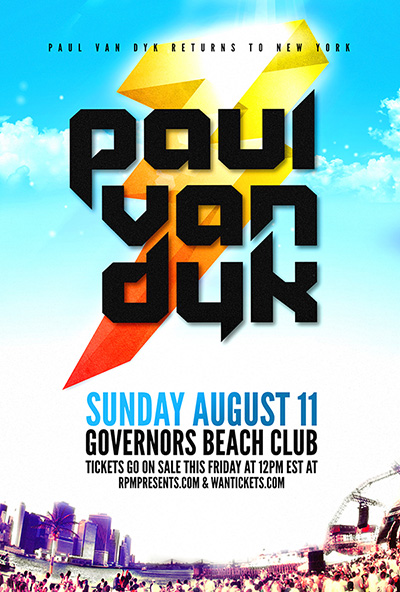 PAUL VAN DYK,GOVERNORS ISLAND