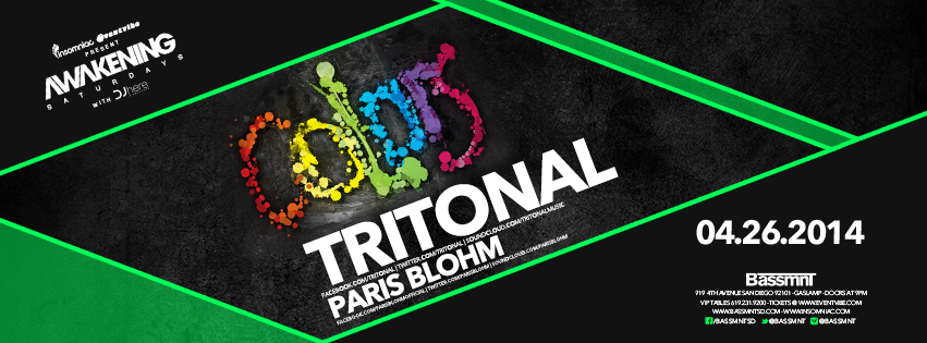 Tritonal + Paris Blohm April 26th at Bassmnt