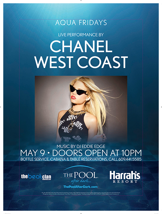 THE POOL AFTER DARK-HARRAH'S RESORT