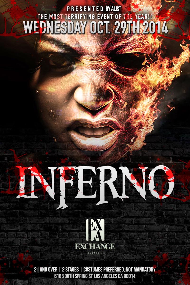Inferno at Exchange LA , Los Angeles