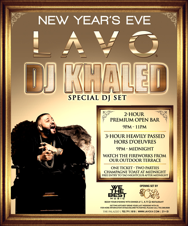 DJ Khaled NYE at LAVO Nightclub