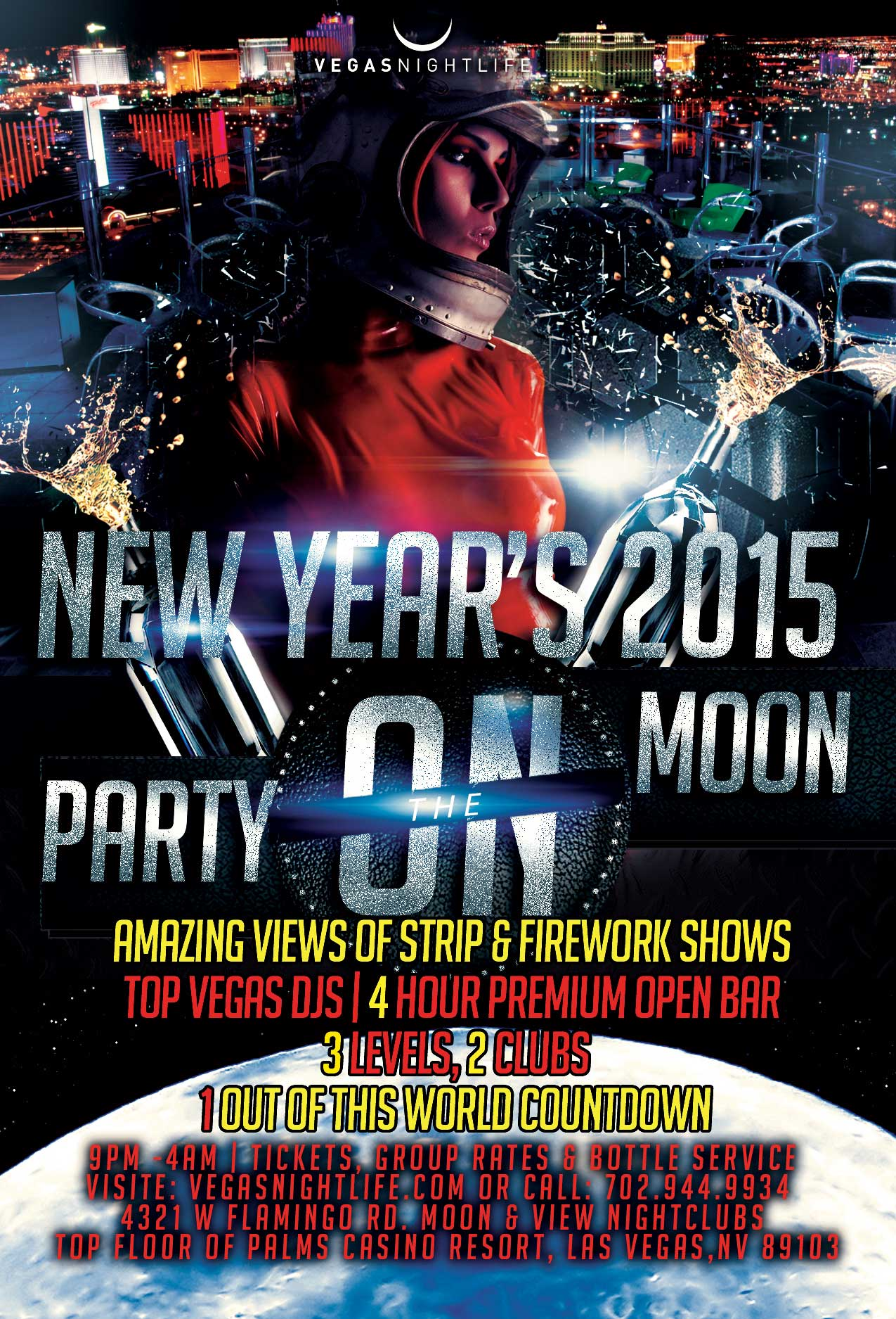 Party on the Moon New Years Eve 2015