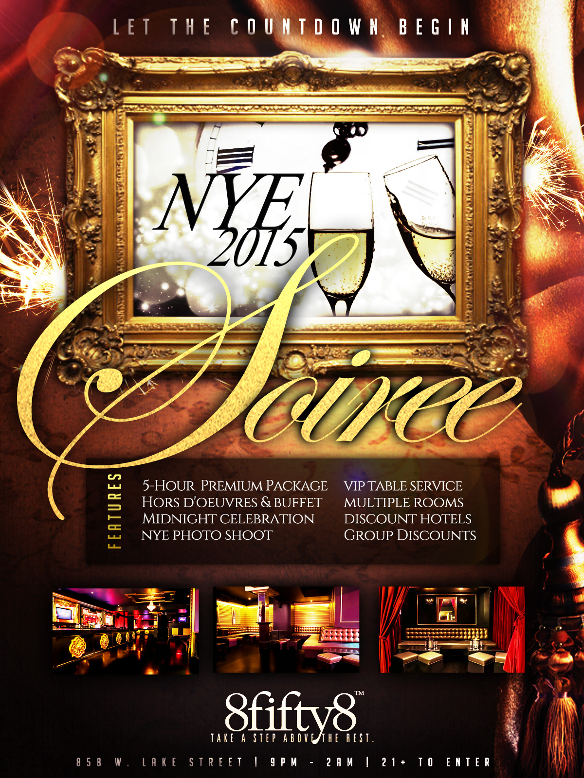 New Years Eve 2015 at 8fifty8 Chicago