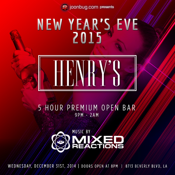 Let your New Years Eve evoke elegance and class at Hooray Henrys