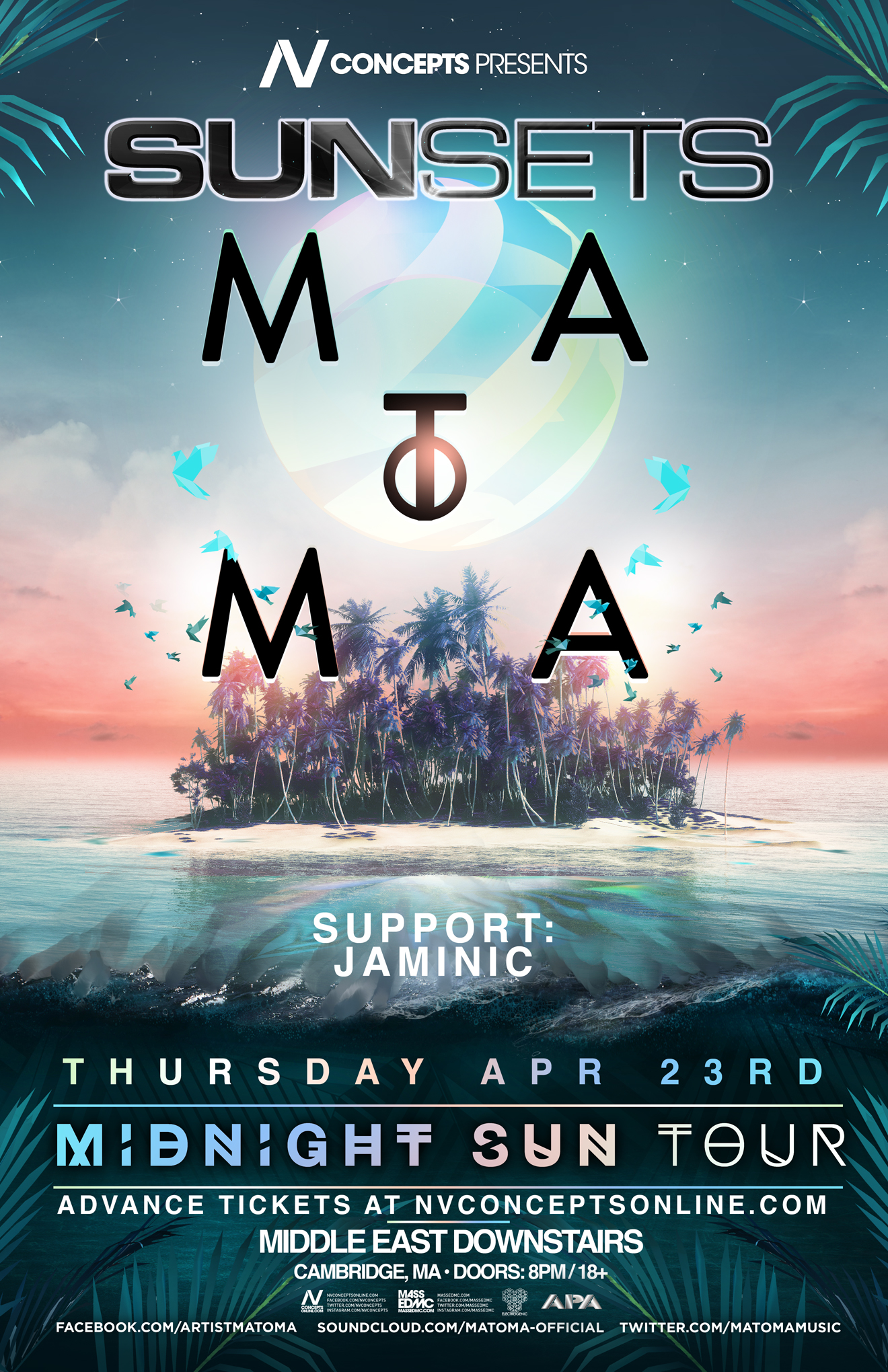 SUNSETS ft. MATOMA @ Middle East | 4.23.15, Cambridge
