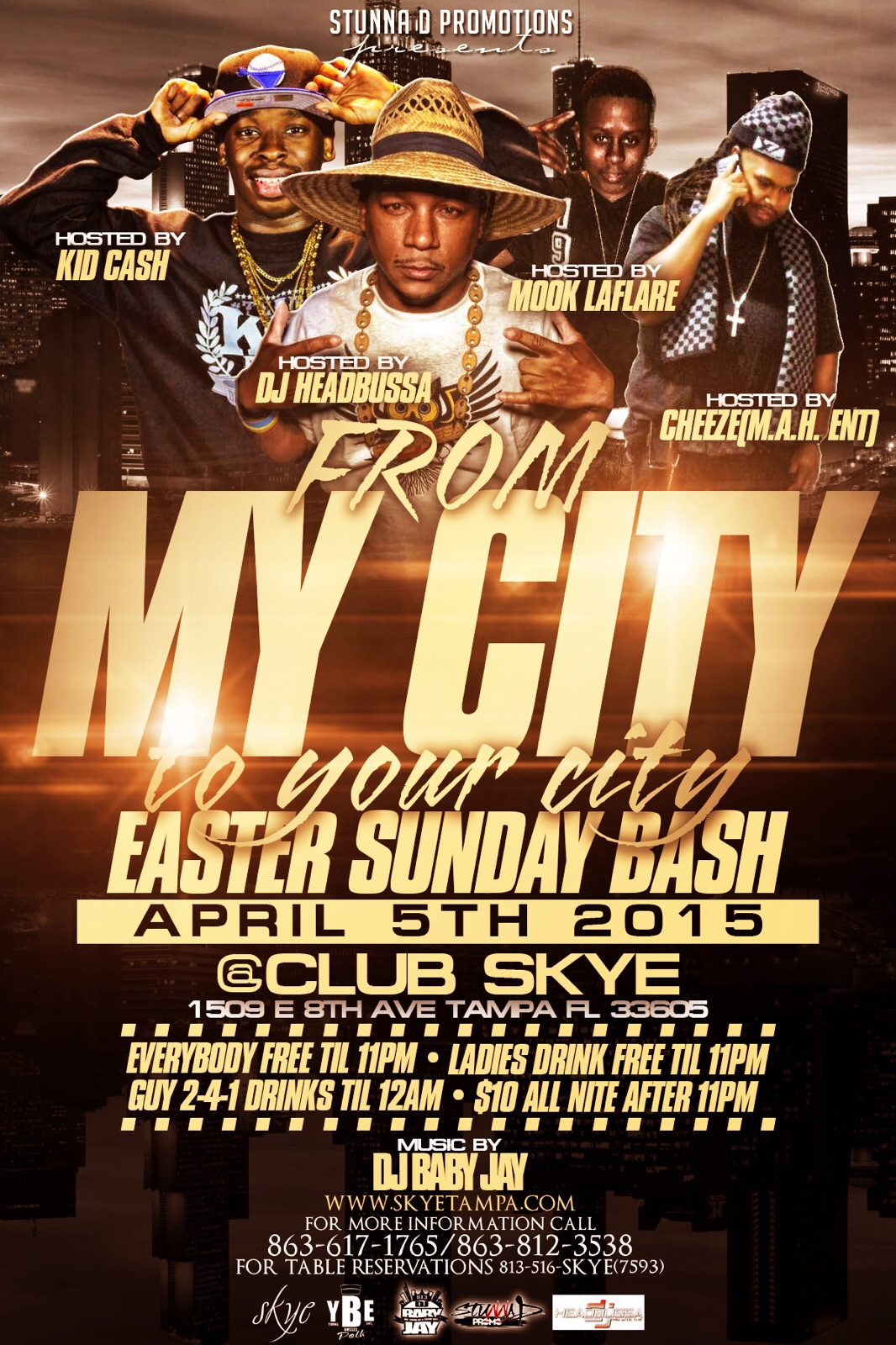 My City 2 Your City Easter Bash , Ybor City