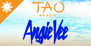 Angie at TAO Beach, Las Vegas