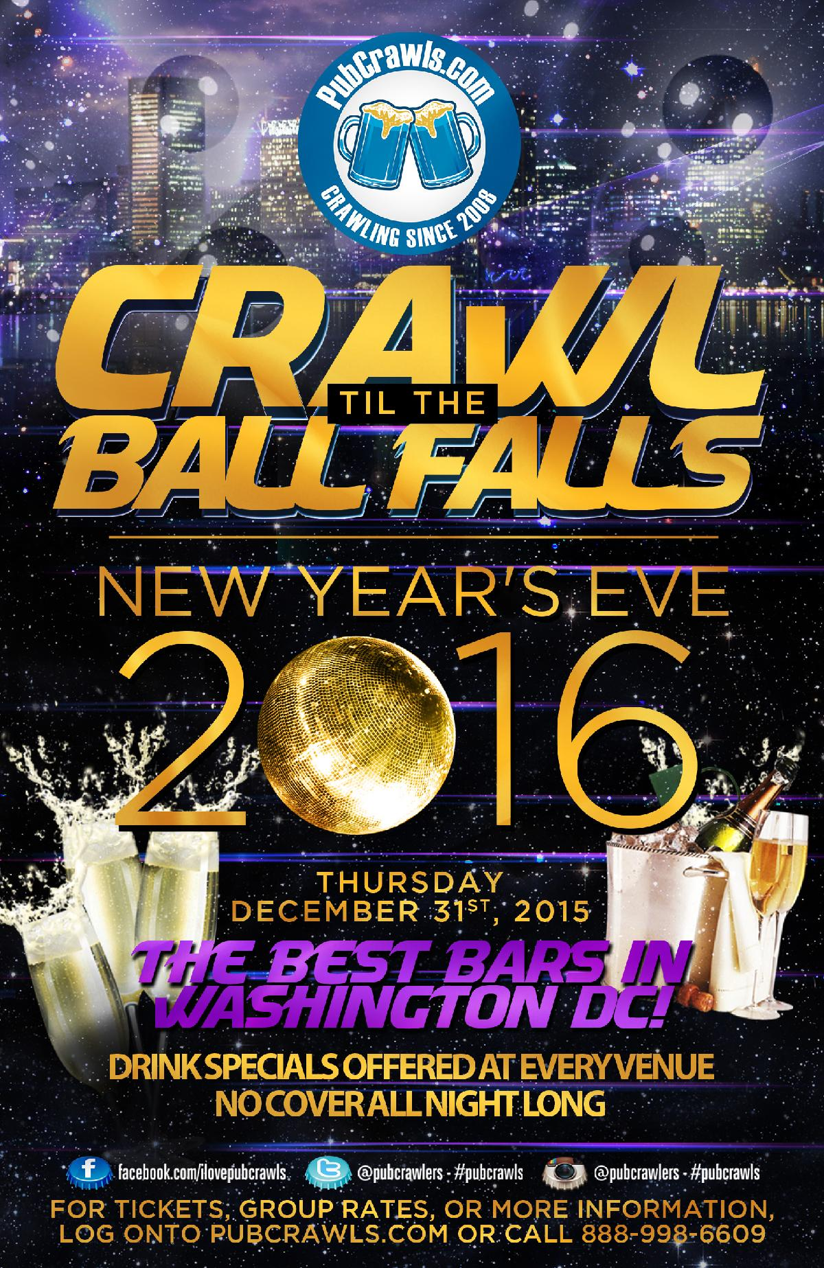 Crawl Til The Ball Falls PubCrawl Washington D.C.