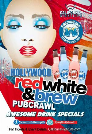 Hollywood Red White & Brew PubCrawl - Friday 7/3, Hollywood