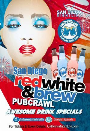 San Diego Red White & Brew PubCrawl - Saturday 7/4, San Diego
