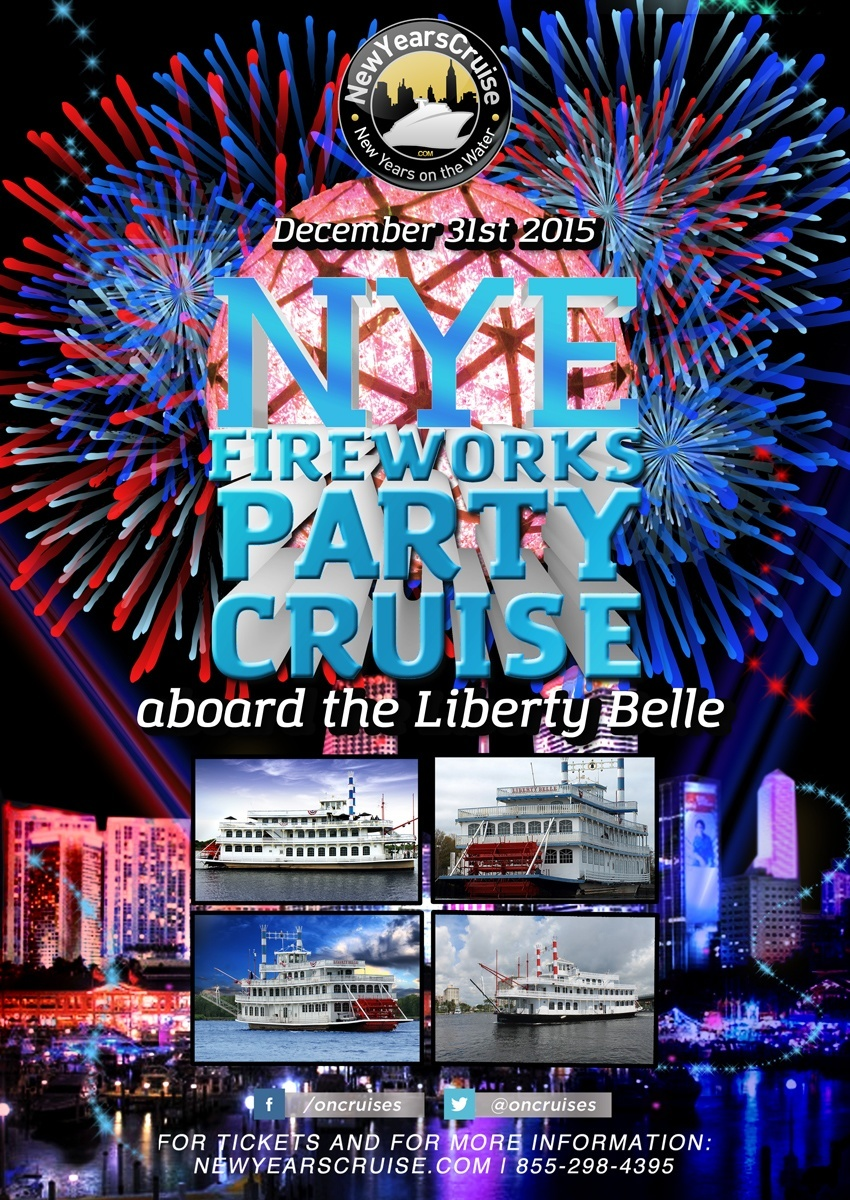 New Years Eve Fireworks Party Cruise- The Liberty Belle