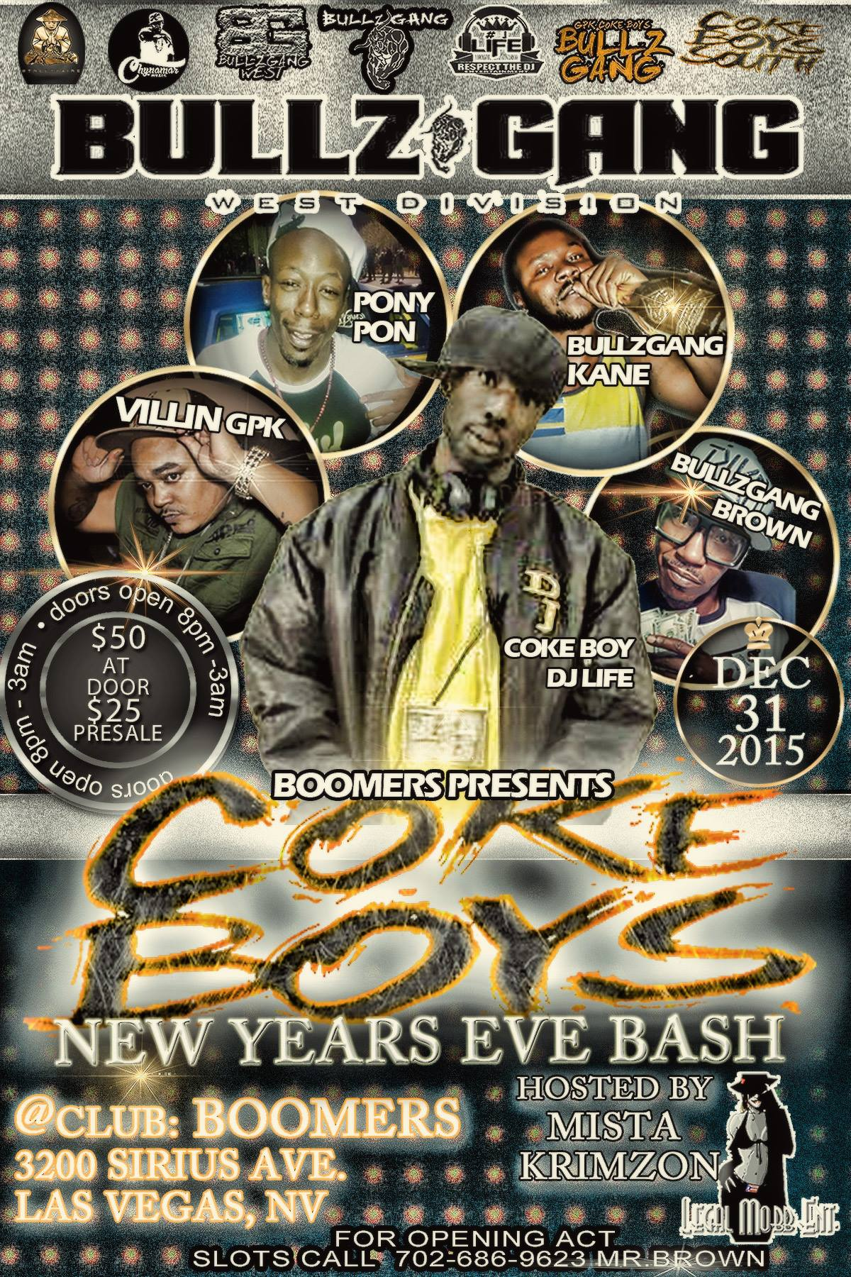 GPK COKEBOYS NEW YEARS EVE BASH